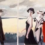 1988   'Departure;Then Men/The Women'  (dyptich)          24''   x  19''      (each panel)