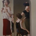 1984  'Mothers and Daughters-2 '  74'' x 50''