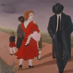 1992  'The Road Home'    24''  x  19'' ( see oil- 'On the Road Home'  1993)