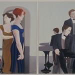 1988  'In Wait II (dyptich)  24''  x  19''  each panel
