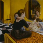 1993   'Mother and Children on Bed''   57''  x  72''