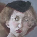 "1985.  'Two Woman; Back to Back'   27""  x  21""  pastel  (closeup)"