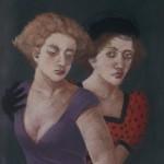 """1985 ''Twins  II'  26""""  x  18""""  pastel"""