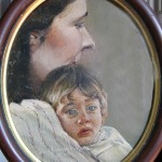 """1983  'Claire and Ian; ellipse'   7""""  x  6"""""""