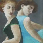"1985 'Twins-15'  28""  x  21""  pastel"