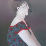"""1985  'Woman- Veiled Hat and Floral Dress'   23""""  x  18"""""""