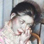 1980  'Portrait of a Woman Dressing'  (closeup)