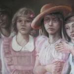 "1981 'Four Girls'  28""  x  37""  Pastel"