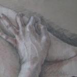 c. 1981 'Drawing of Hands'  (closeup)