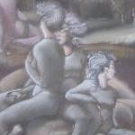 "1982  ' The Gorgons and Graei'  26""  x  19""  pastel  (closeup)"