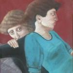 "1985 'Twins-4'  27""  x  20"" pastel (see oil- 'Twins-4"" 1986)"