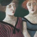 "1985 'Twins-18'  26""  x  19""  pastel"