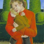 """2006  'Mother and Child'   24""""  X  19""""  ( see oil- 'An Essential Arrangement'  1998)"""