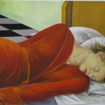 """2006 'She Dreamed Her Dream' 19""""  x  24""""  (see oil- 'Of Other World's She Dreamed'  2002)"""