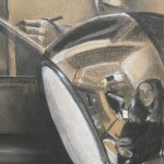 1979 ' View from Bond Street with Self Portrait'  (closeup)