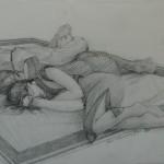"1997  'Asleep and Awake'  11""  x  13""  graphite"