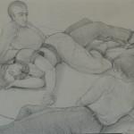 "1996  'Mid Summer'  11""  x  17""  graphite (see oil- 'The Midsummer Mind' 1996)"