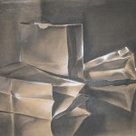 """c. 1978 'Paper Bags'  18""""  x  23""""  Charcoal and Conte"""