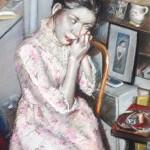 """1980  'Portrait of a Woman Dressing''  24""""  x  19""""  pastel"""