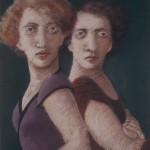 "1985  'Twins-10'  26  x  19"" pastel"