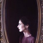 1981  'Self Portrait with Mirror'-30''  x  24''    oil