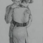 1996 'Embrace' 10'' x 13''  graphite
