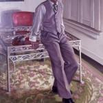 Portrait of  Lewis  85'' x  51''    1979  Oil
