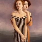 'Two Women'   50'' x  40''   1990  Oil