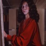 'Self Portrait in Studio'  36'' x 24'' 1981  Oil
