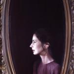 'Self Portrait with Mirror '      30''  x  24''      1981  Oil