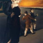 'Evening Quartet'      79''  x  50''       1993   Oil