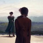 'The Descent;Face to Face'  19'' x 24''  1987  Gouache