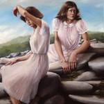 'Women on the Rocks',                  82''  x  52''  1981 -  Oil