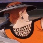 'Lady on the Rocks '   19''  x  24''  1990  closeup